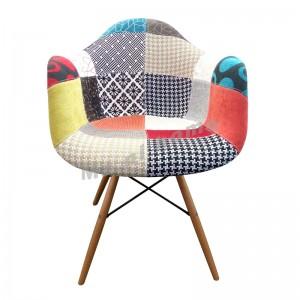 PROFILO 型格餐椅, 拼布(半包), 櫸木色腳, 811172