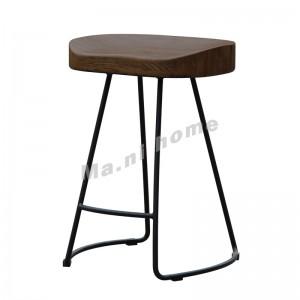 TIMBER 450 吧椅, 實木座板, 銹色金屬腳, 814605