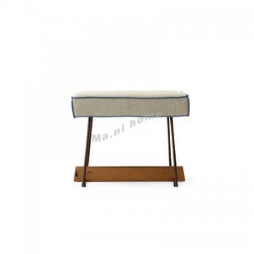 SLINE 500 dresser stool, Albizia + Metal + fabric, 815882