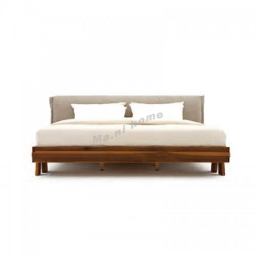 YOSE bed, yellow poplar + fabric, 815937