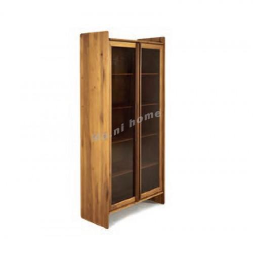 YOSE 900 display shelf(glass door), yellow poplar, 815963