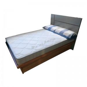 CITTA bed hydraulic , light walnut color + dark gray