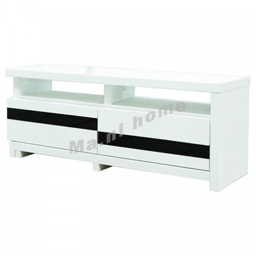 1200 tv cabinet with extension, gloss white, 811300