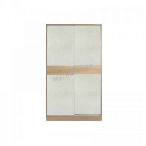 TESS 1200 sliding door wardrobe, oak color + cloth pattern, 817355