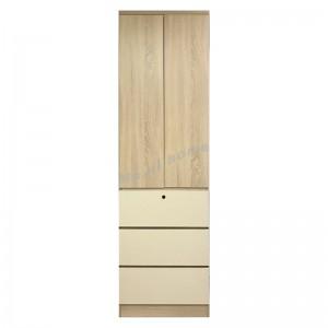 TESS 600 hinge door wardrobe, oak color + cloth pattern, 817357