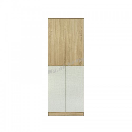 TESS 750 hinge door wardrobe, oak color + cloth pattern, 817358