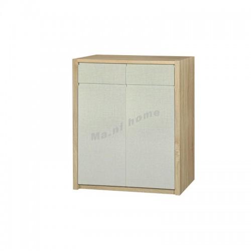 TESS 900 shoes cabinet, oak + cloth pattern, 817361