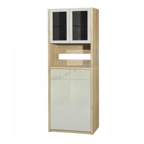 TESS shoes cabinet, oak + cloth pattern