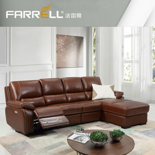 FARRELL LEATHER L shape sofa ( ELECTRICAL RECLINER )