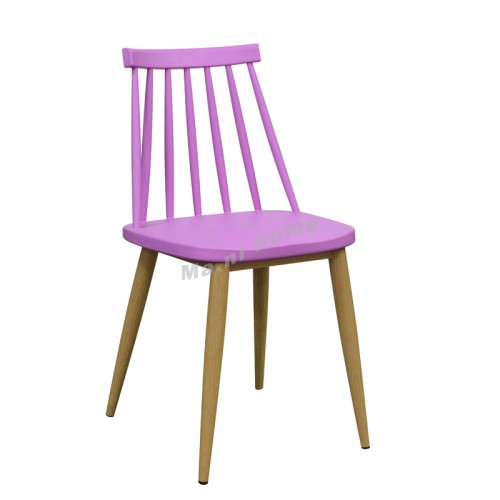 PALETTE dining chair, purple+woodgrain, 815132