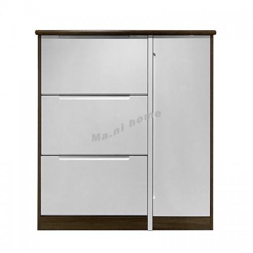 TOFU 950 SHOES CABINET, walnut + gloss white, 817662