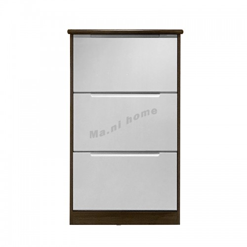 TOFU 650 SHOES CABINET, walnut + gloss white, 817663