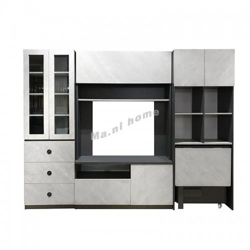 COLT  WALL UNIT, drak gray cloth pattern + cement color