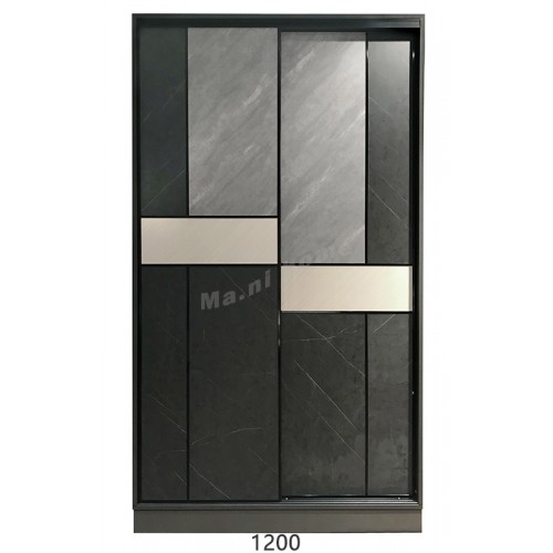 COLT sliding door wardrobe, gray cloth pattern / gray stone pattern / Beige Twill