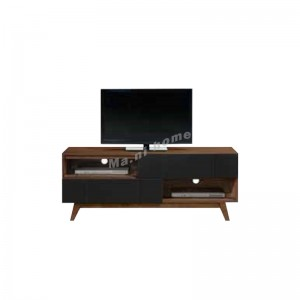GREG 1400 TV table, walnut +black, 814618