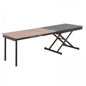 KTINUE JR 開合餐檯, 炭灰色+橡木色/灰色檯面, 812436