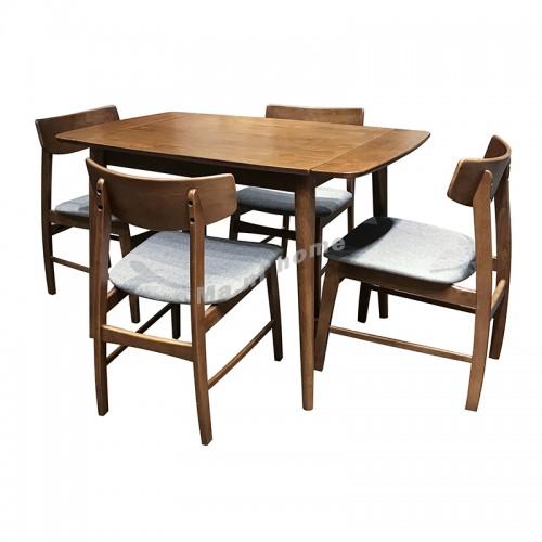 ELME dining table, Oak + cherry wood color
