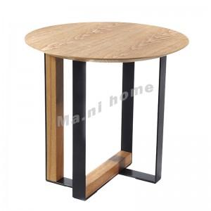 DUAL 500 圓型茶几, 橡木飾面, 黑色椅腳, 814629