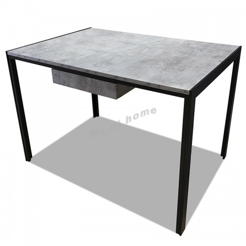 CLEMENT 1100 dining table, cement & black color, 816153