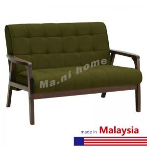 TUCSON 布藝兩座位梳化, 深啡木色, 綠色, 813814