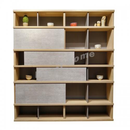 CLEMENT 1700, 書櫃, 櫸木+水泥板飾面 813559