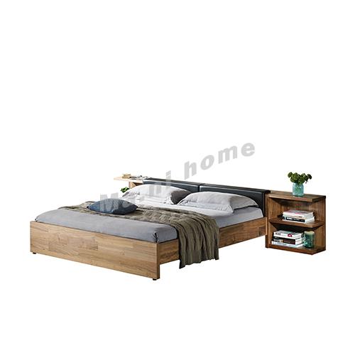 BRICK 3000 bed, walnut veneer, 814777
