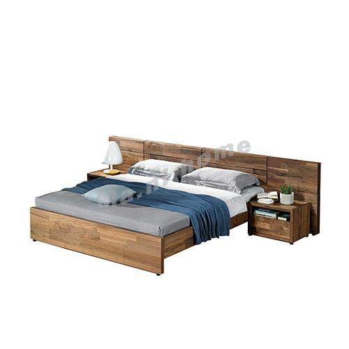 BRICK 2900 bed, walnut veneer(nightstand not included), 814780