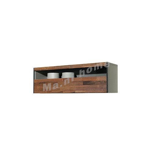 BRICK 1100 wall cabinet, walnut veneer, (flap donw door),  814712