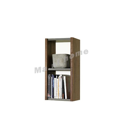 BRICK 400 wall cabinet, walnut veneer+ grey ,  814713