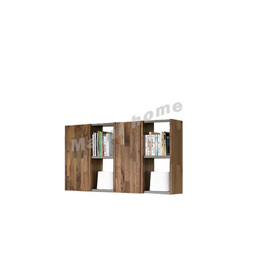 BRICK 1500 wall cabinet, walnut veneer+ grey ,  814717