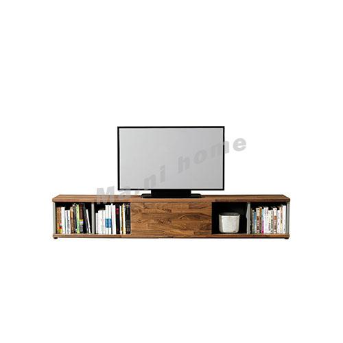 BRICK 2300 電視櫃, 灰色 + 胡桃木飾面, 814723
