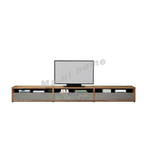 BRICK 3300 TV cabinet, walnut veneer + grey, 814747