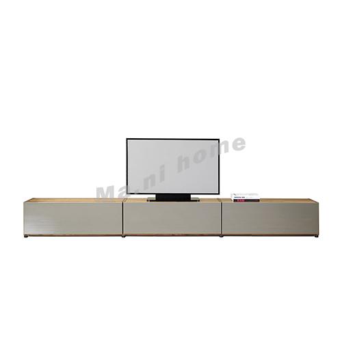 BRICK 3300 TV cabinet, walnut veneer + grey, 814748