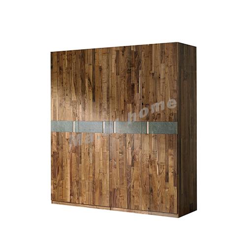BRICK 2000 wardrobe, walnut veneer + grey, 814752