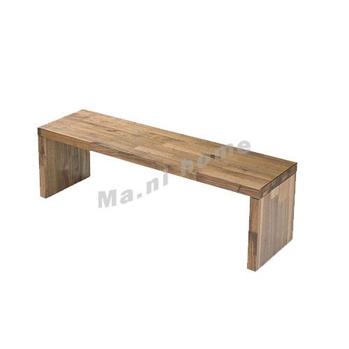 BRICK 2100 bench, walnut veneer, 814755