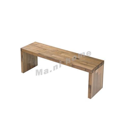BRICK 1500 bench, walnut veneer, 814756