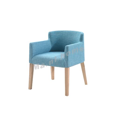 CLEMENT 620 fabric dining chair, oak veneer, 815398