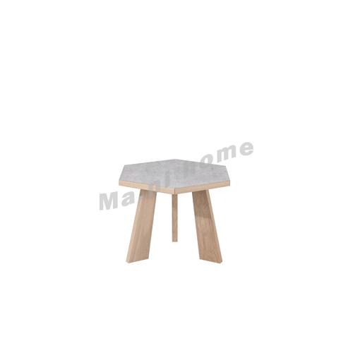 CLEMENT 650 wooden coffee table, oak veneer, cement colour, 815429