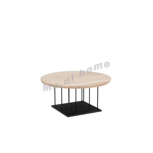 CLEMENT 900 wooden coffee table, oak veneer, metal leg, 815434