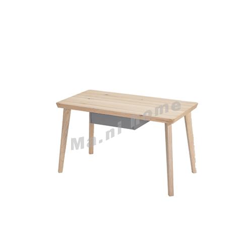 CLEMENT 1250 desk, oak veneer top panel + grey drawer, solid leg, 815451