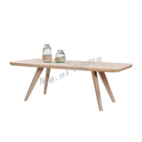 CLEMENT 2450 dinning table, oak veneer, solid leg, 815452