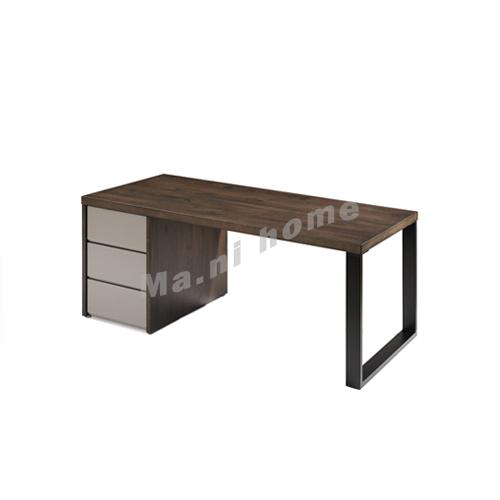 FINN 1600 書檯, 橡木飾面 + 灰色, 814911