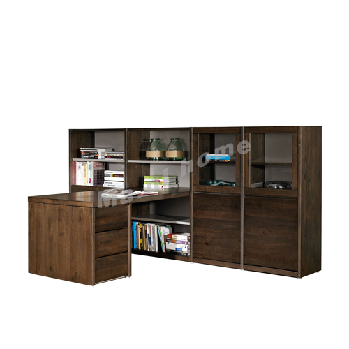 FINN 3000, bookcase with desk, oak veneer, 814805