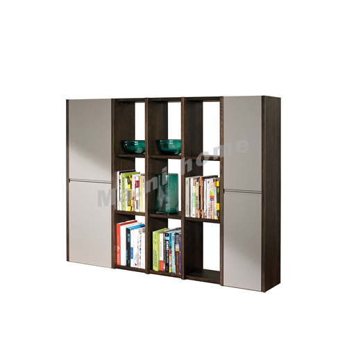 FINN 1800 bookcase, oak veneer + grey, 814586