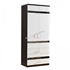 BIGIO 900 hinge door wardrobe with drawers+mirror, 810105