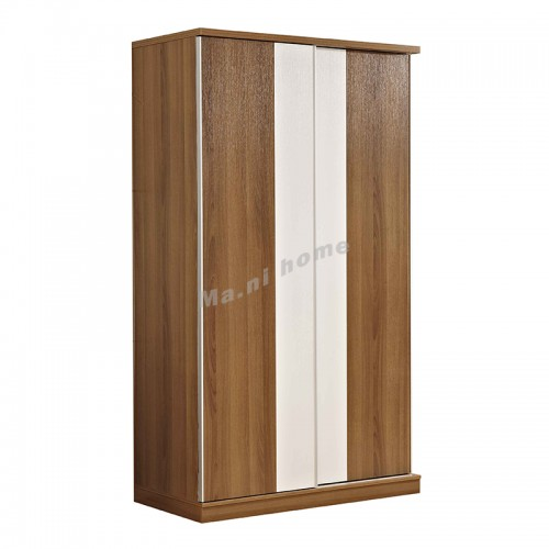 ACCORD sliding door wardrobe, walnut color+white