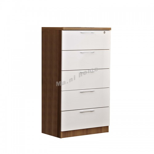 ACCORD 600 Chest of drawers, light walnut color+white, 811989