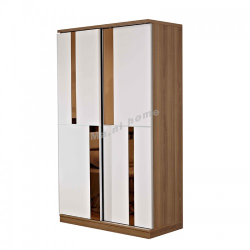 ACCORD 900 sliding door wardrobe + golden mirror, 813486