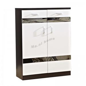 BIGIO 800 shoes cabinet +gray mirror, walnut color+white, 815552