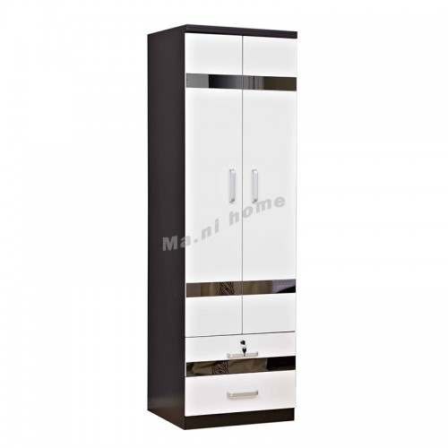 BIGIO 600 hinge door wardrobe with drawers+mirror, 815553